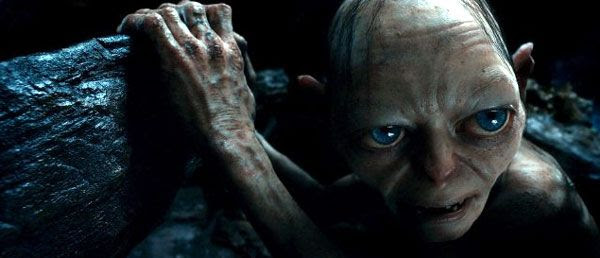 Gollum (Andy Serkis) vows to eat Bilbo Baggins if the Hobbit loses at a game of riddles in THE HOBBIT: AN UNEXPECTED JOURNEY.