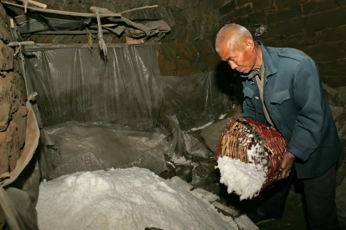 2 - Industrial salt. China is the largest producer of salt on the globe and it's shown that over 90% of the product is inedible, usually being mixed with a variety of metals.