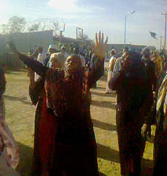 Furia: La mujer en el grito en el campamento de refugiados de la milicia