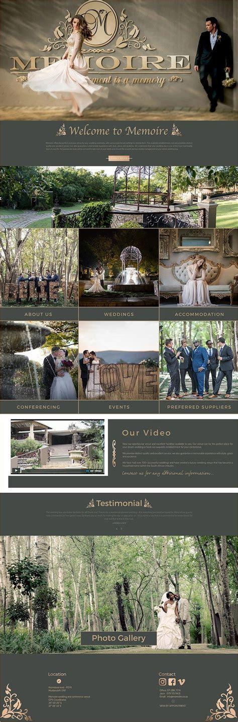 Memoire Wedding Venue   Web Design Wedding and Function Venue