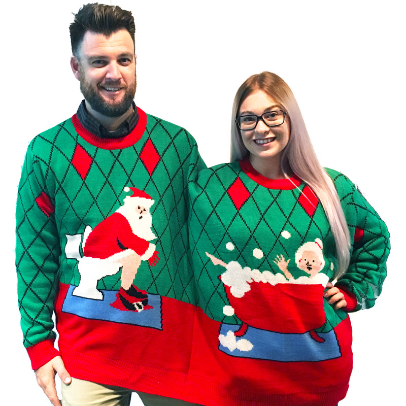 Image result for double ugly christmas sweater