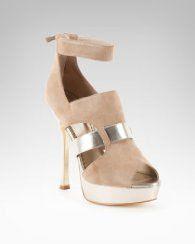 Bebe Melissa Suede Platform Sandal