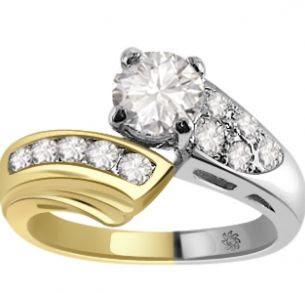 1.26 Carat Cortez Diamond 14Kt White Yellow Gold Engagement Ring