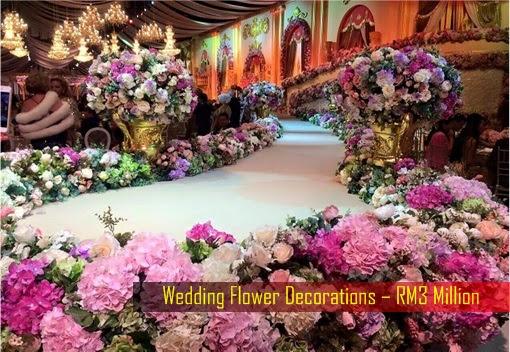 Daniyar Nazarbayev and Nooryana Najwa Wedding - RM3 Million Flower Decorations