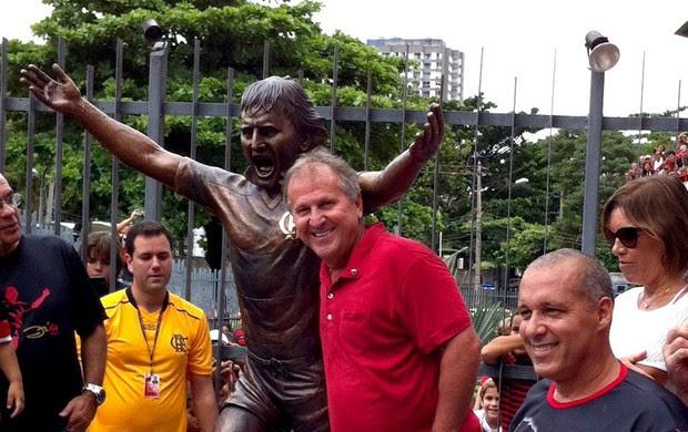 Estátua Zico Flamengo gávea (Foto: André Durão / Globoesporte.com)