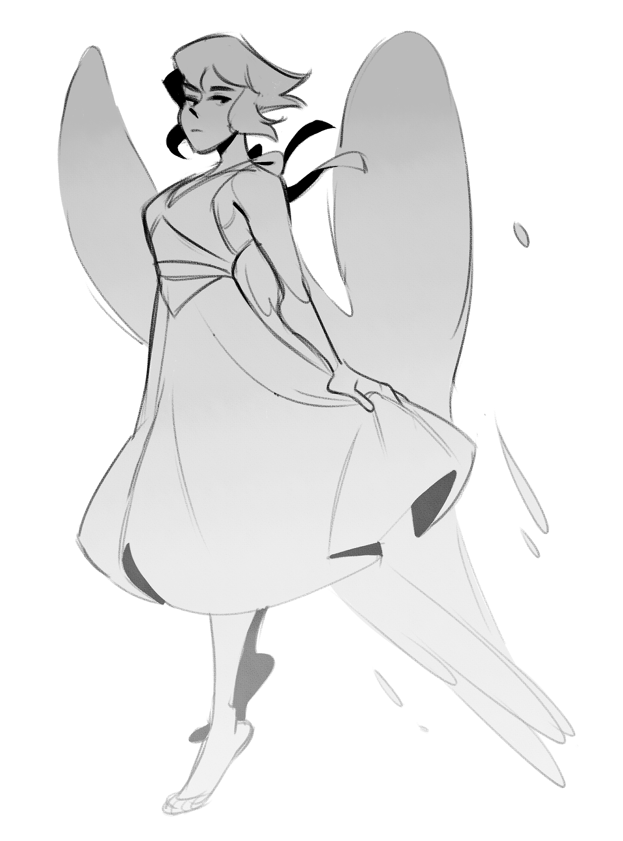 i was gonna use these lapis sketches for something, but scrapped it for another idea