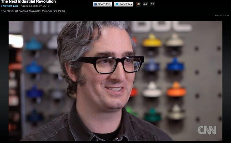 The Next Industrial Revolution: Bre Pettis of MakerBot on CNN