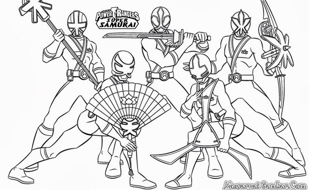 Gambar Mewarnai Robot Power Rangers
