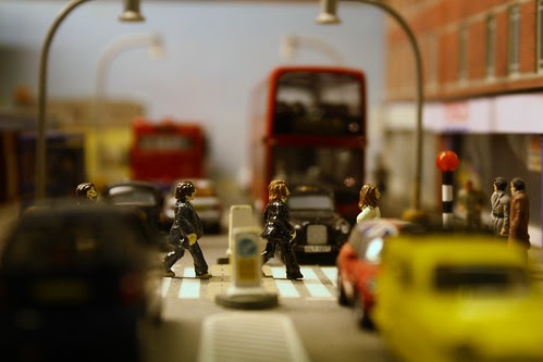 Miniature beatles by Jemimah Knight
