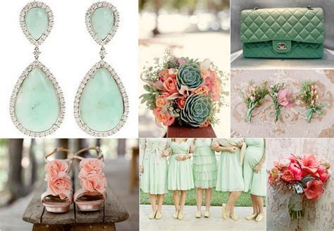 Peachy Coral Mint Green Wedding Ideas on Pinterest   23 Pins