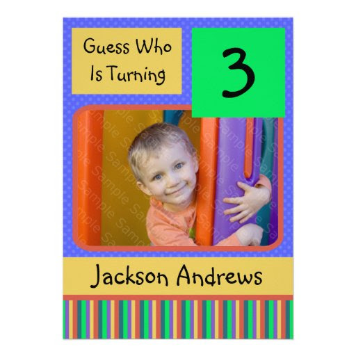 Year Old Birthday Party Invitations BOY from Zazzle.com