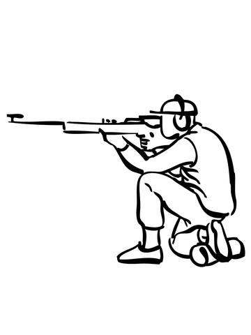 Dibujo De Tiro Con Rifle Para Colorear Dibujos Para Colorear