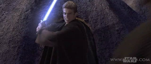 Is Anakin on the verge of the Dark Side, or is he constipated?  You be the judge...