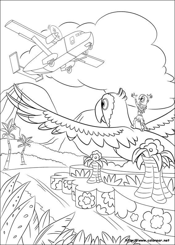 Dibujos Para Colorear De Rio