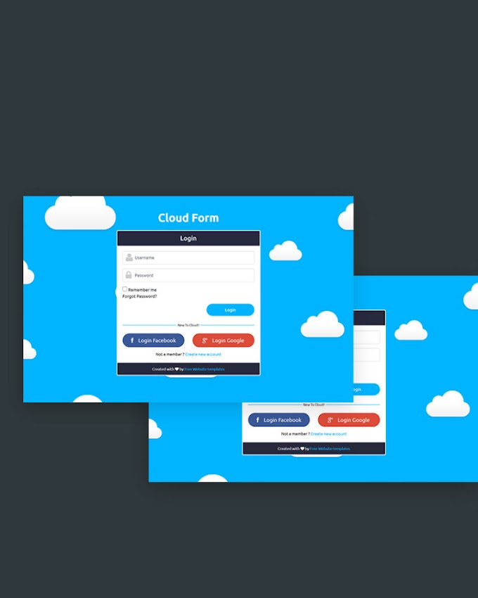 Cloud – Free Login Form Template