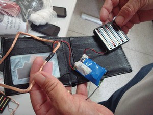 Equipamento usado em fruade em vestibular (Foto: Assessoria de Comunicação/ PF-ES)