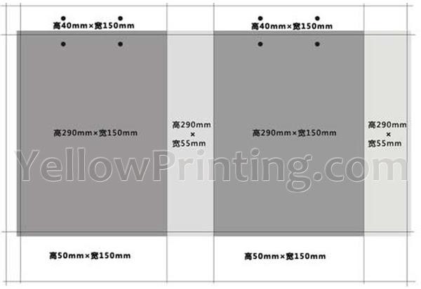 china paper hangbag with glossy lamination