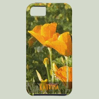 Dry Brush Effect California Poppy Photograph iPhone 5 Cases