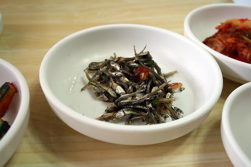 Dried, salted anchovies