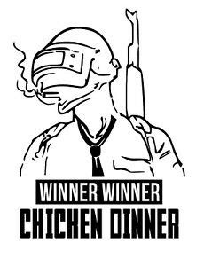 winner winner chicken dinner pubg sticker logo gaming