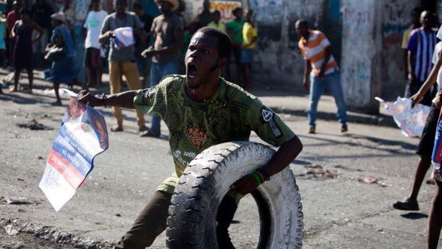 Protesta en Puerto Príncipe