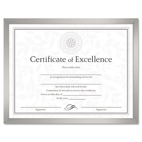 Value U Channel Document Frame Wcertificates 8 12 X 11 Silver