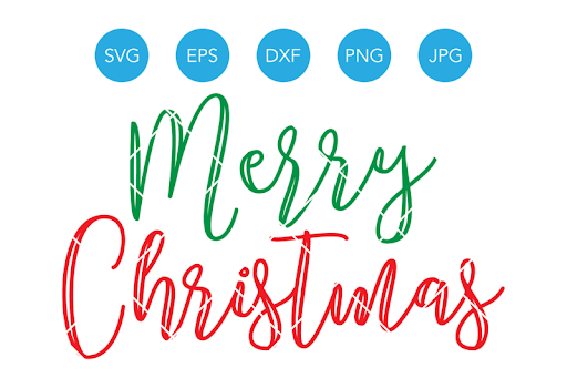 Download Free Merry Christmas SVG, Digital Cut File, Hand Lettered ...