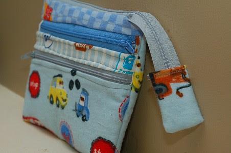 Triple zip pouch