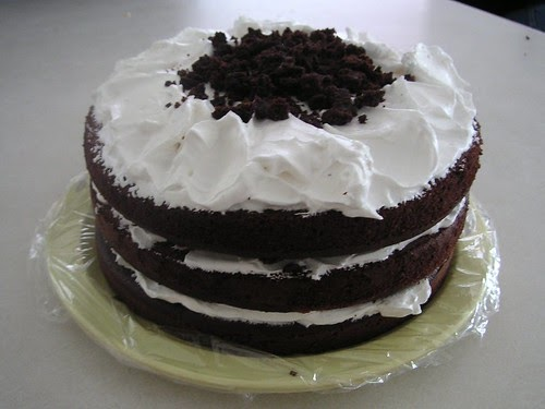 Devil S Food Cake And Bakers White Chocolate
