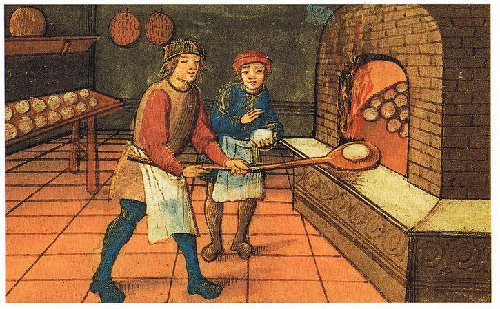 cocinando pan en la edad media