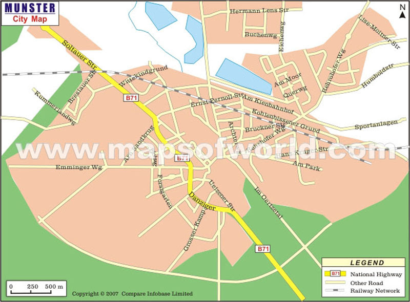 Munster Map Map Of Munster City Germany