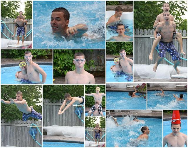Swimming Collage - June 2011