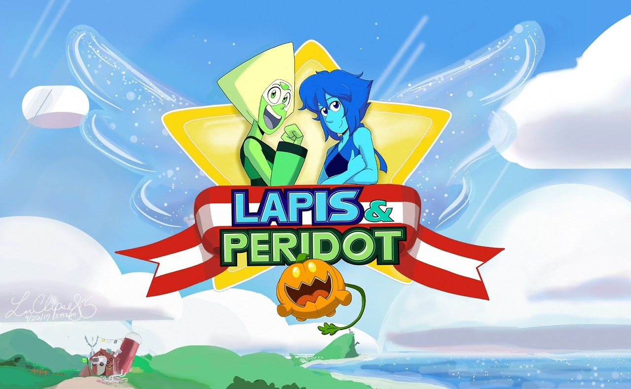 """Lapidot Project, 3 weeks later and I finally finished it! My favorite gems, and sentient vegetable, combined with the Sega game that defined my childhood, Sonic the Hedgehog 2! I did the """"Lapis &..."""