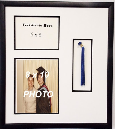 High School Graduation Certificate Document 6x8 With Tassel 8x10