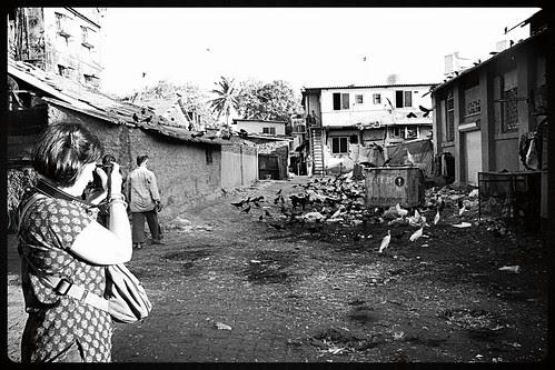 Italian Tourist Manuella Shooting Bandra Bazar Road Garbage Dump by firoze shakir photographerno1