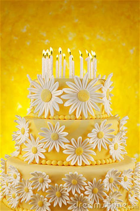 Daisy Birthday Cake Stock Photo   Image: 22028730