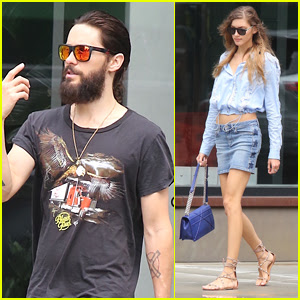 Jared Leto Grabs Lunch with Rumored Girlfriend Valery Kaufman in NYC