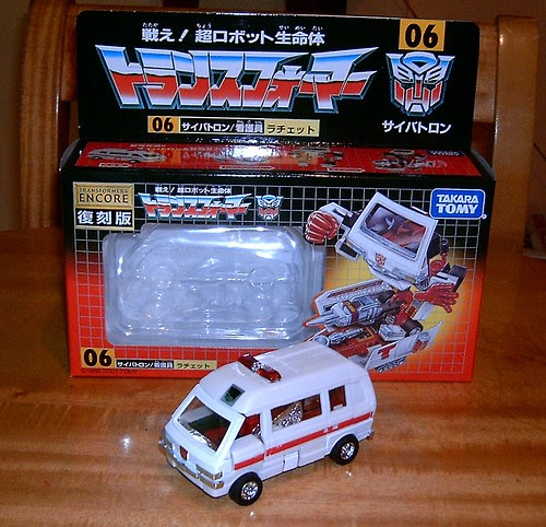 Transformers Ratchet G1 Encore Reissue