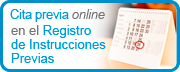 Cita previa online en el Registro de Instrucciones Previas