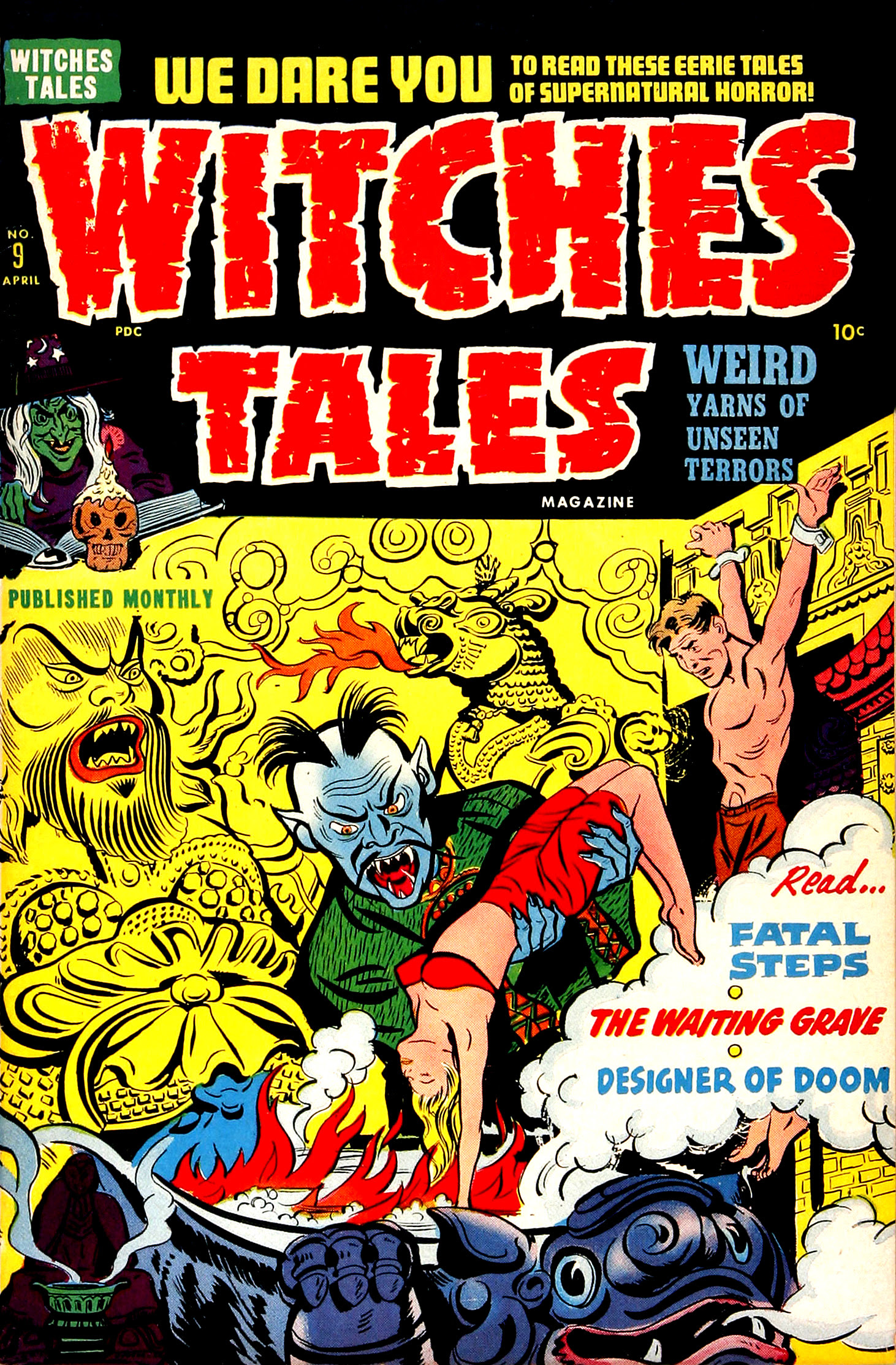 Witches Tales #9, Al Avison Cover (Harvey, 1952)