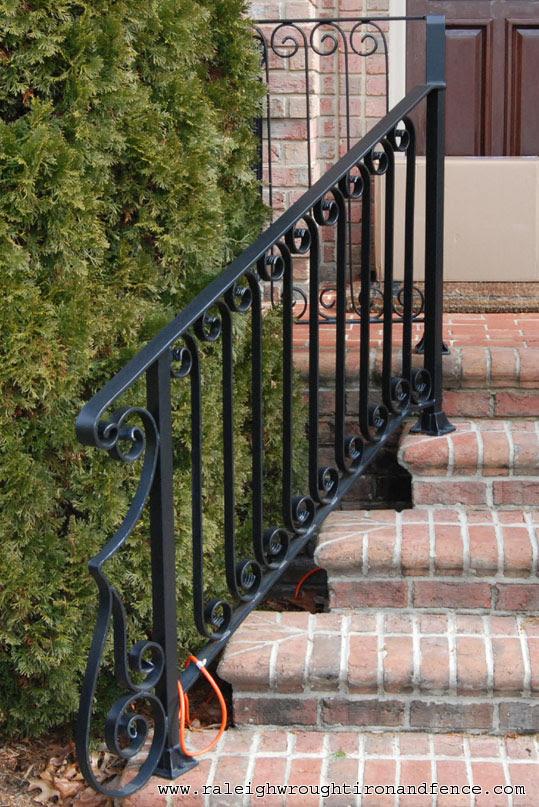 Greensboro NC custom wrought iron railings Raleigh Wrought ...