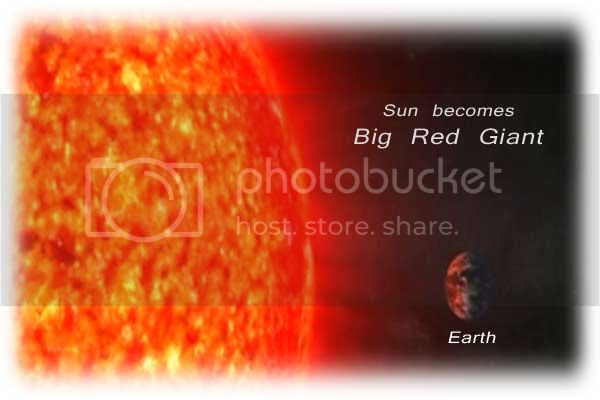 Sun becomes a red giant before it's death