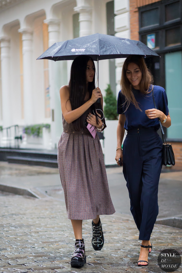 Gilda Ambrosio and Giorgia Tordini Street Style Street Fashion Streetsnaps by STYLEDUMONDE Street Style Fashion Photography