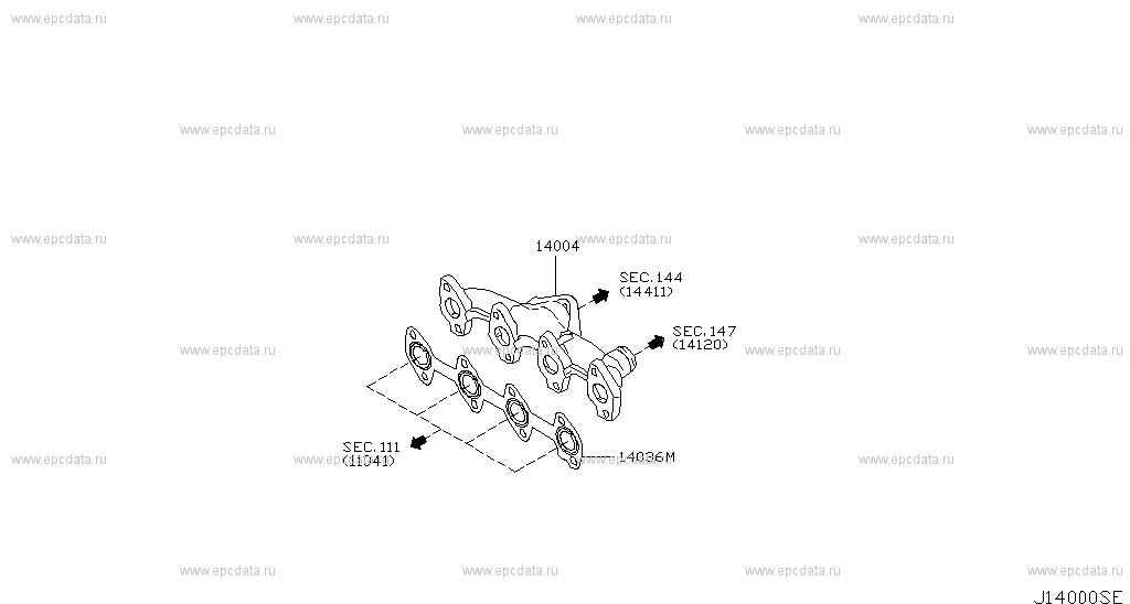 140 Manifold For Micra K12e Nissan Micra Genuine Parts