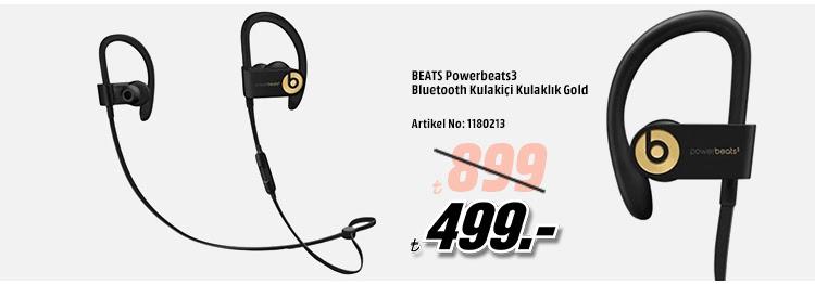 BEATS Powerbeats3 Bluetooth Kulakiçi Kulaklık Gold 499TL