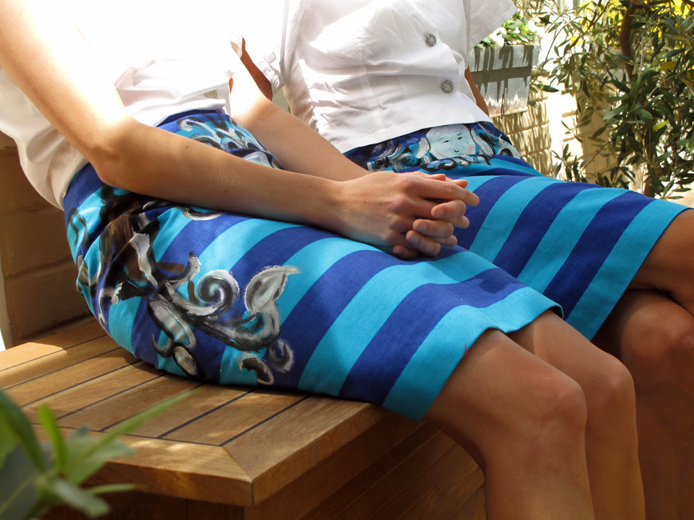Striped Prada Skirts