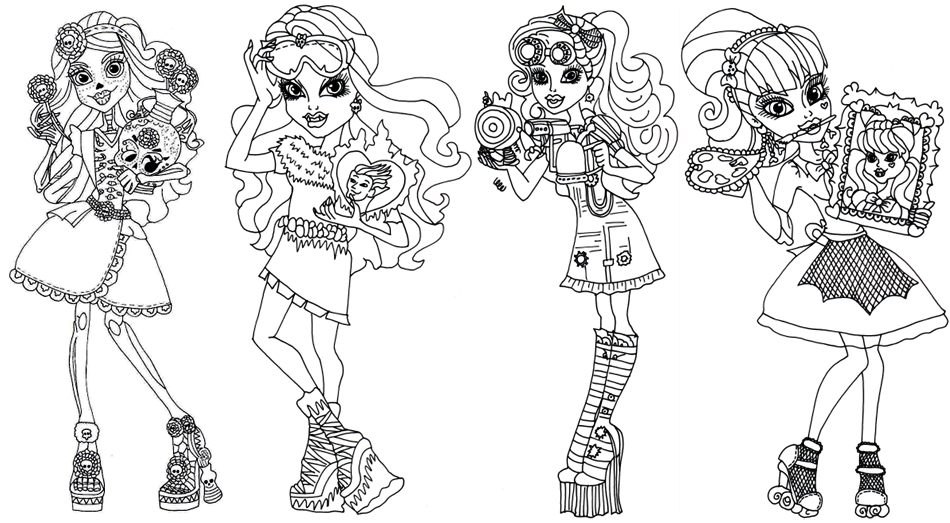 7800 Top Coloring Pages Monster High , Free HD Download