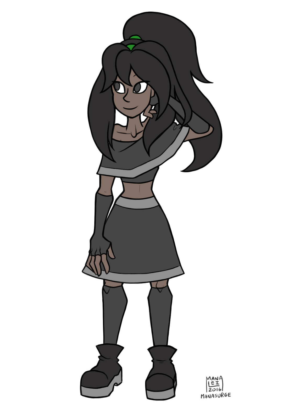 Finally got around to updating a simple flat colour pic of Obsidian (my gemsona). I think I've improved since my last one…? (I hope I've improved anyways) She's had a slight hairstyle change and I got...
