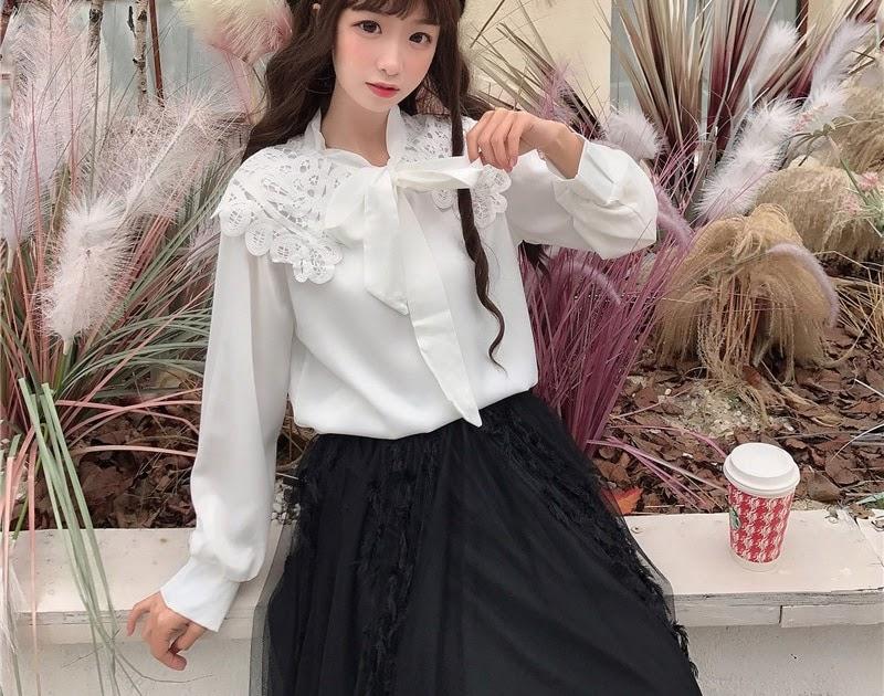 b86b1e9cb KYQIAO ropa de mujer 2019 lolita dulce camisa mori niñas otoño ...