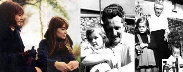 Françoise Hardy avec sa soeur, son père, sa grand-mère